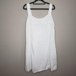 J. Jill Linen Sleeveless Dress Lagenlook Lined 12